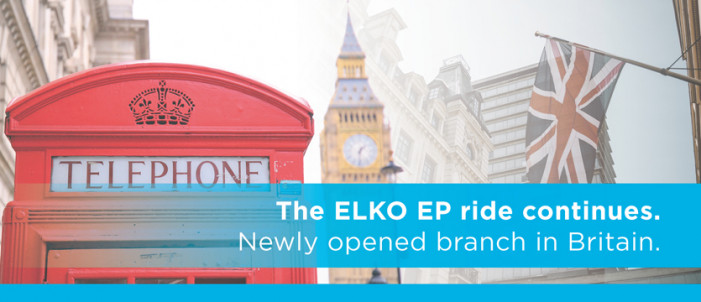 The ELKO EP ride continues. Newly opened branch in Britain photo