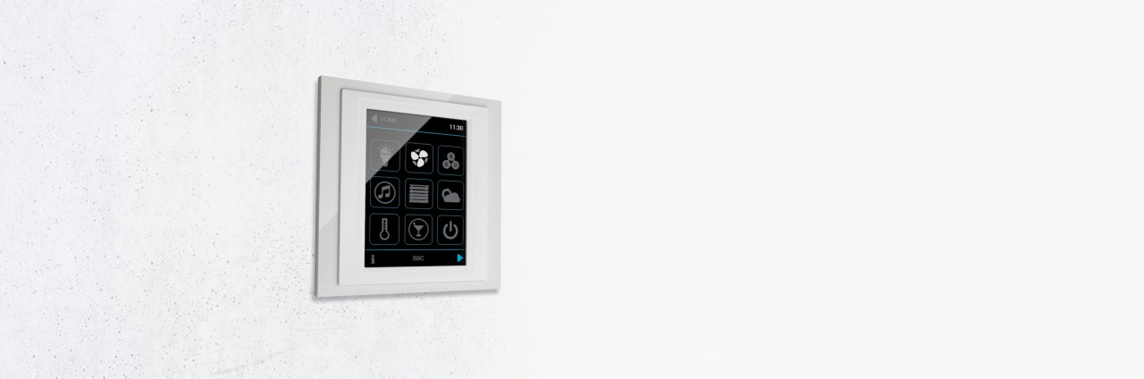 Control unit with touch screen slide image